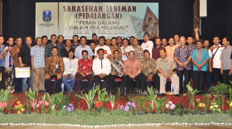"Sarasehan Seniman (Pedalangan) Jawa Timur 2019 Dengan Tema ""Peran Dalang Dalam Era Milenial"""
